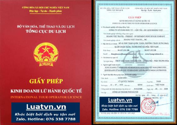 thủ tục giấy phép du lịch nội địa