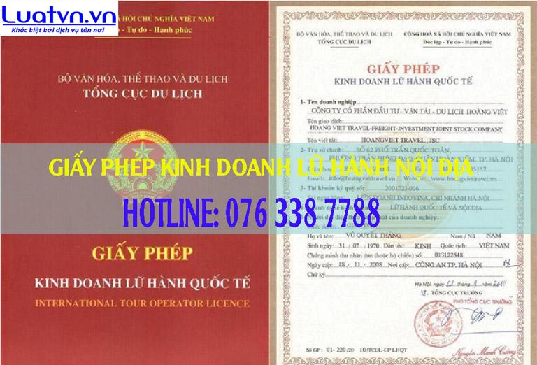 Luatvn tư vấn cấp giấy phép kinh doanh lữ hành nội địa