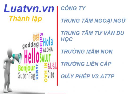 luatvn Thành lập trung tâm tư vấn du học