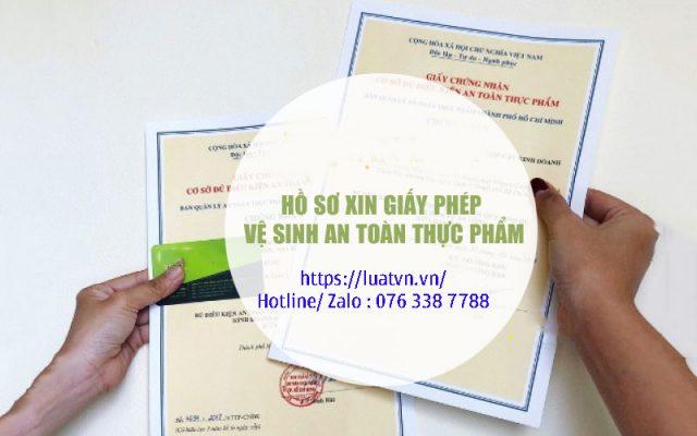 Hồ sơ xin giấy vệ sinh an toàn thực phẩm