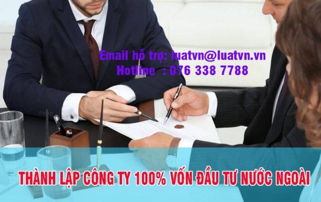 Dịch vụ thành lập công ty 100% vốn đầu tư nước ngoài uy tín tại Luatvn.vn