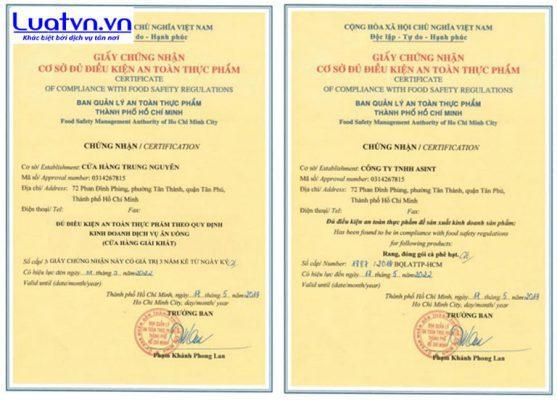 Chuẩn bị hồ sơ xin giấy phép vệ sinh an toàn thực phẩm