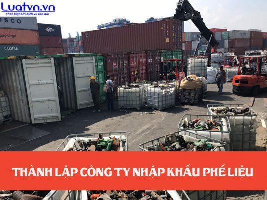 Thành lập công ty nhập khẩu phế liệu