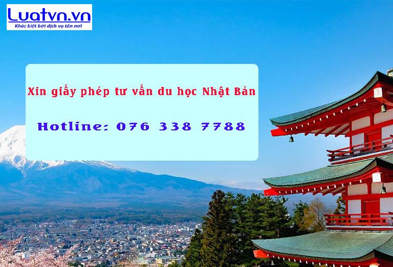 Xin giấy phép tư vấn du học Nhật Bản