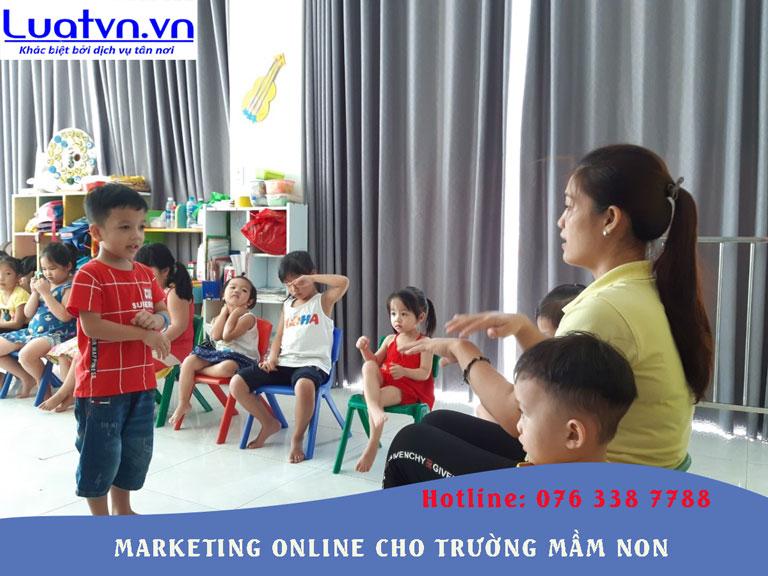 Tư vấn Marketing Online cho trường mầm non