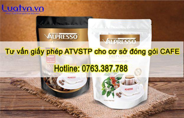 Dịch vụ tư vấn giấy phép ATVSTP cho cơ sở đóng gói cafe