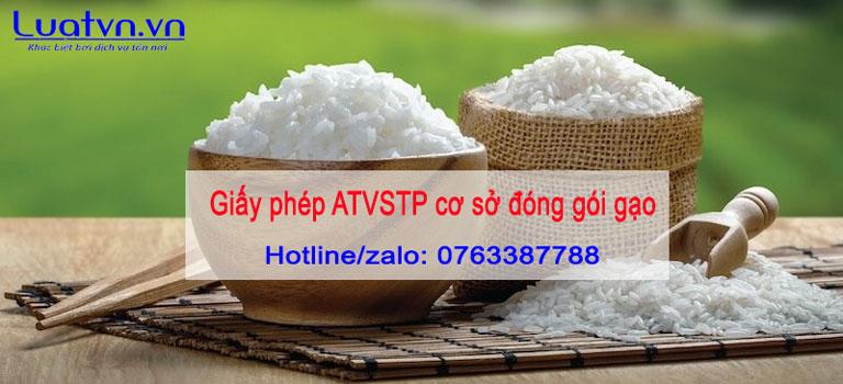 Cơ sở đóng gói gạo có cần thiết phải xin giấy phép ATVSTP không?