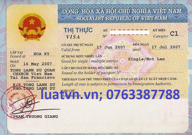 Visa cho người nước ngoài