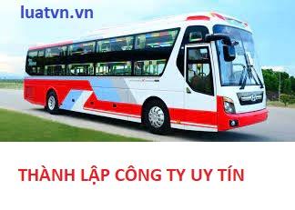 Thành lập công ty vận tải hành khách theo hợp đồng