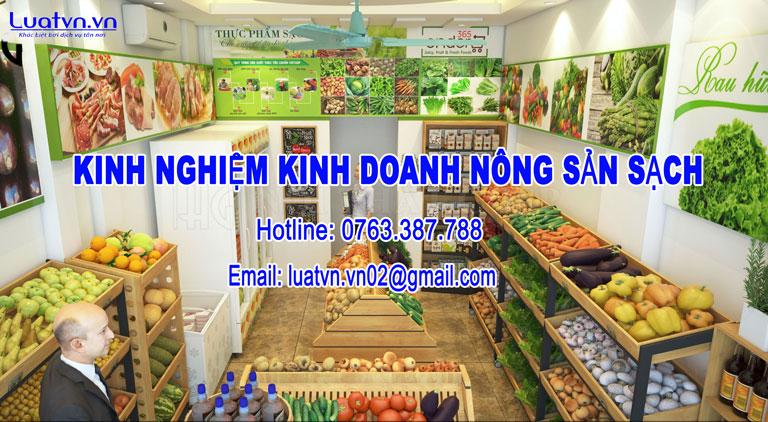 Kinh nghiệm mở cửa hàng kinh doanh nông sản sạch