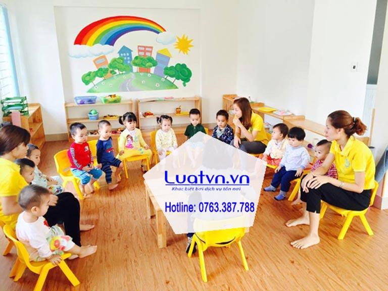 Dịch vụ thành lập nhóm trẻ tư thục của luatvn.vn