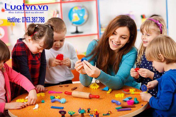 Điều kiện thành lập nhóm trẻ mầm non