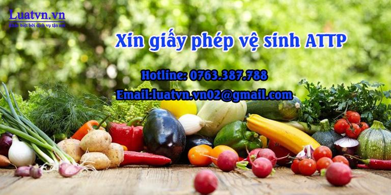Xin giấy phép vệ sinh ATTP cho cửa hàng nông sản