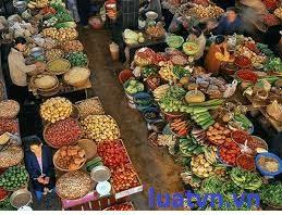 Giấy phép ATVSTP cho chợ nông sản