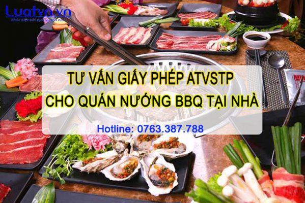 Tại sao cần phải có giấy phép ATVSTP cho quán nướng BBQ?