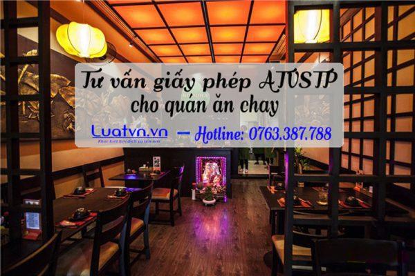 Tư vấn thủ tục pháp lý xin giấy phép ATVSTP cho quán ăn chay