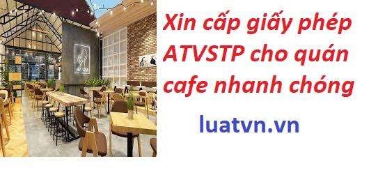 Giấy phép ATVSTP cho quán cafe