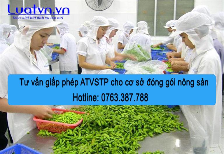 tư vấn giấy phép ATVSTP cho cơ sở đóng gói nông sản
