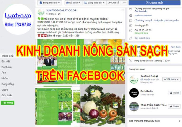 Những kênh kinh doanh nông sản sạch online