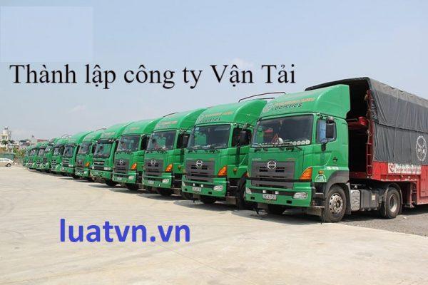 Thành lập công ty vận tải