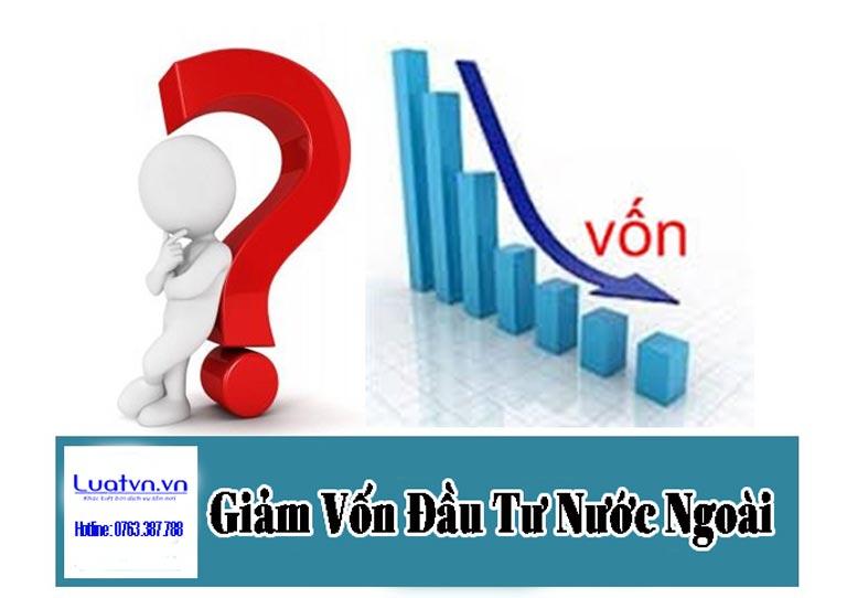 Thủ tục giảm vốn đầu tư nước ngoài