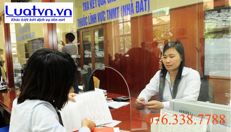 Nhận kết quả từ văn phòng đăng ký đất đai