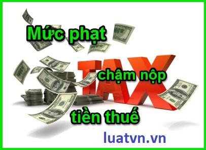 Mức phạt chậm nộp tiền thuế