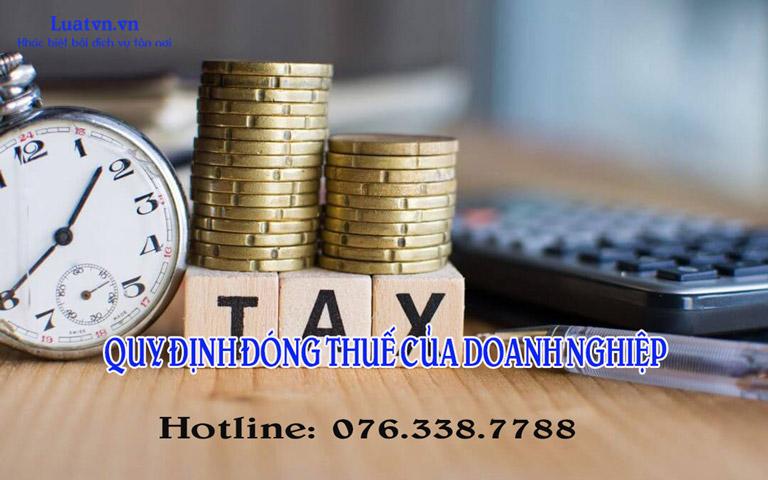 Quy định đóng thuế của doanh nghiệp