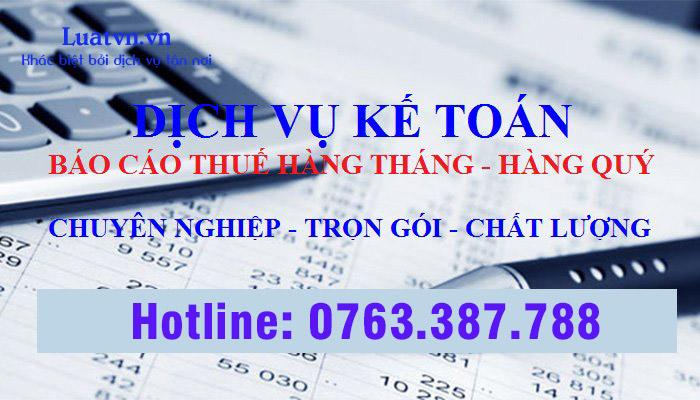 Dịch vụ báo cáo thuế giá rẻ tại HCM