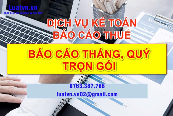 Dịch vụ kế toán thuế trọn gói tại Luatvn.vn uy tín, chuyên nghiệp