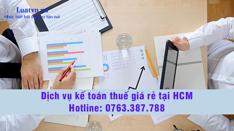 Dịch vụ kế toán thuế giá rẻ HCM
