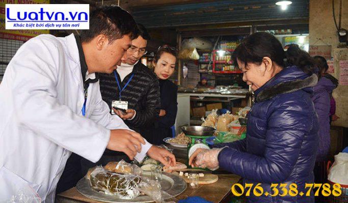 Mẫu kiểm tra vệ sinh an toàn thực phẩm