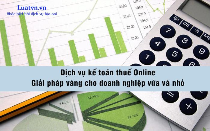 Dịch vụ kế toán thuế Online cho doanh nghiệp
