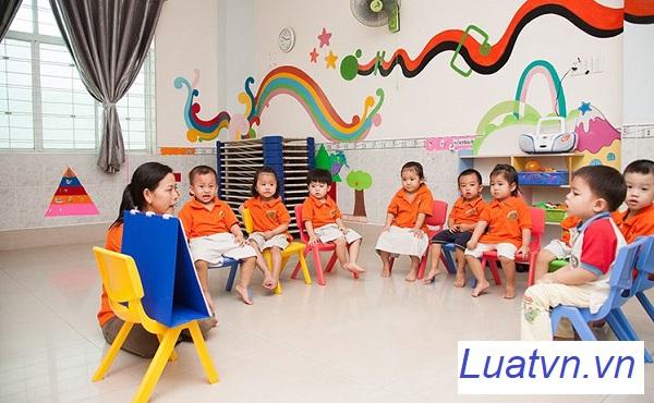 Thành lập nhóm trẻ lớp mẫu giáo độc lập tư thục