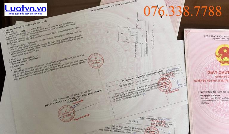 Soạn thảo hồ sơ đăng ký biến động đất đai