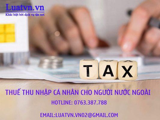 Hướng dẫn tính thuế thu nhập cá nhân cho người lao động nước ngoài
