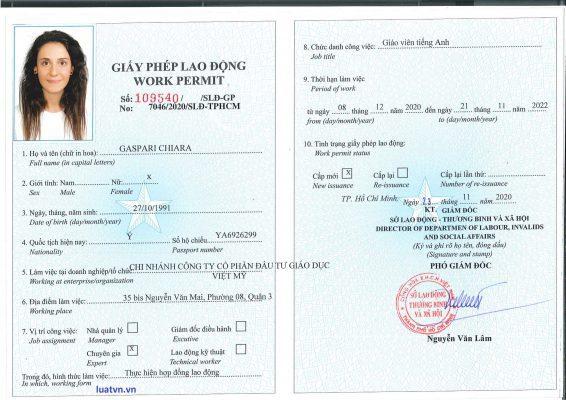 Giấy phép lao động cho người lao động nước ngoài tại Việt Nam