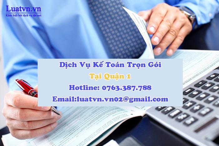 Dịch vụ kế toán trọn gói tại quận 1 uy tín, chuyên nghiệp