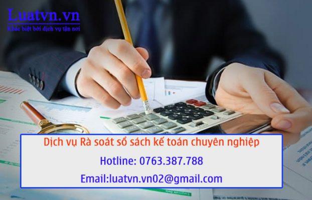 Luatvn.vn cung cấp dịch vụ rà soát sổ sách kế toán chuyên nghiệp, uy tín