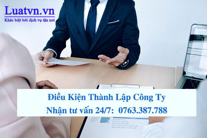Luật sư tư vấn điều kiện thành lập công ty