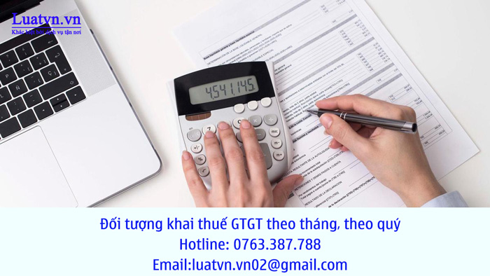 Đối tượng khai thuế GTGT