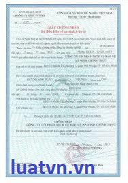 Mẫu giấy cấp chứng nhận an ninh trật tự