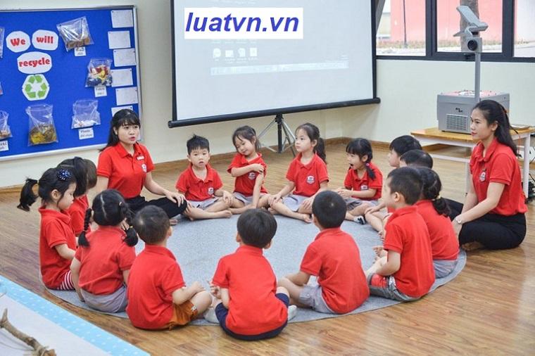 Thủ tục thành lập trường mầm non, mẫu giáo, nhà trẻ.