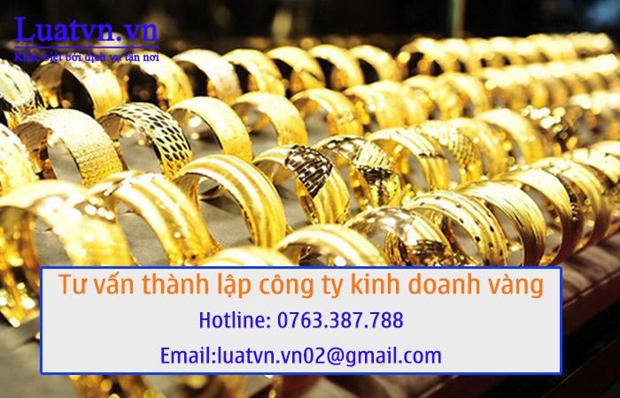Thủ tục thành lập công ty vàng bạc, trang sức