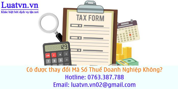 Thay đổi mã số thuế doanh nghiệp