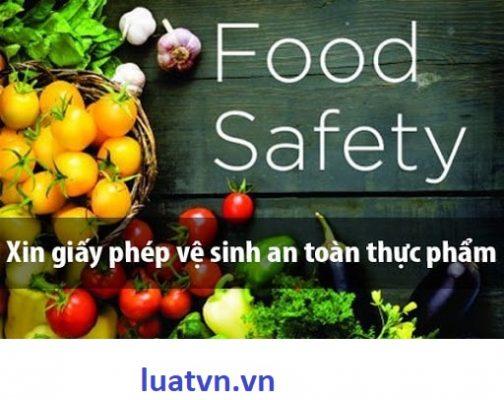 Giấy chứng nhận đủ điều kiện vệ sinh an toàn thực phẩm Quận Thủ Đức,