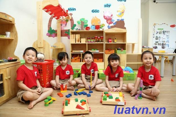 Số lượng trẻ trong trường mầm non