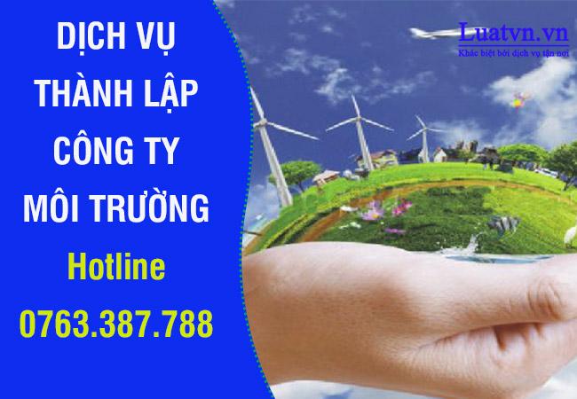 Dịch vụ thành lập công ty môi trường
