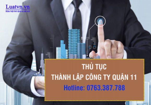 Luatvn.vn tư vấn dịch vụ thành lập công ty quận 11