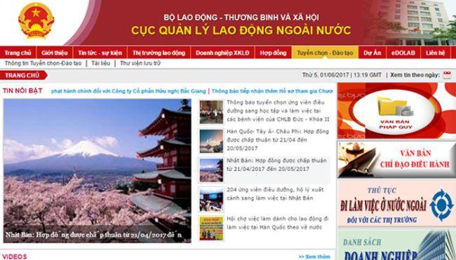 Đầu tiên truy cập vào website:dolab.gov.vn